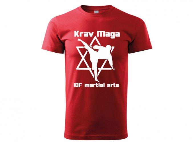 Triko Krav Maga Martial Arts červené 2