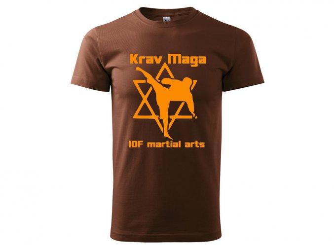 Triko Krav Maga Martial Arts hnědé