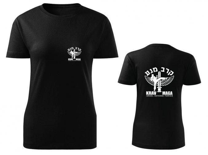 Dámské triko Krav Maga IDF černé