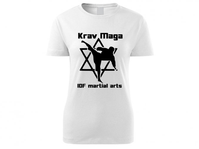 Triko Krav Maga Martial Arts bílé dámské