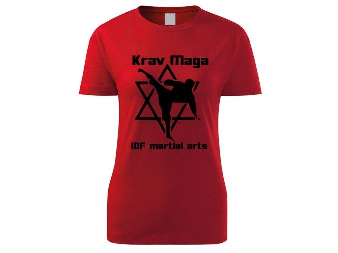 Triko Krav Maga Martial Arts červené dámské