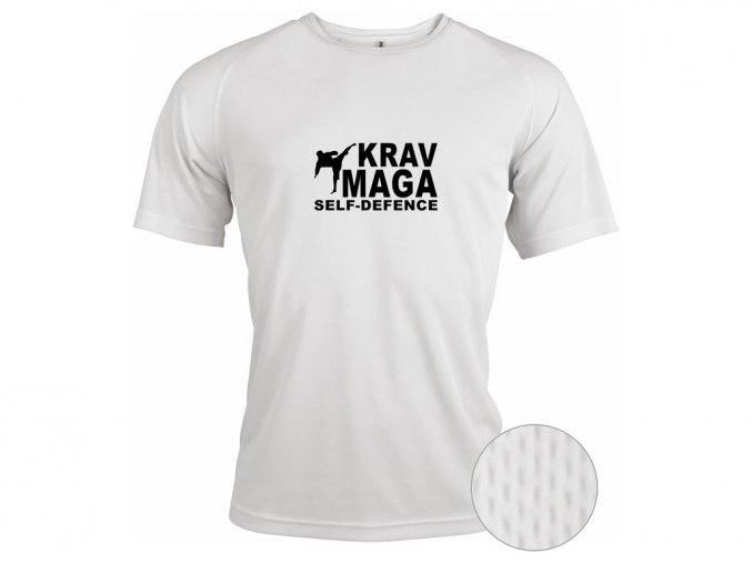Funkční triko Self Defense Krav Maga bílé