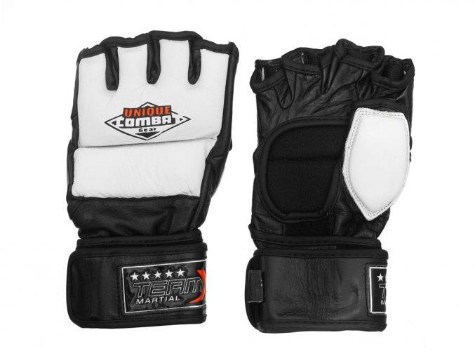 MMA rukavice Unique Combat bílé