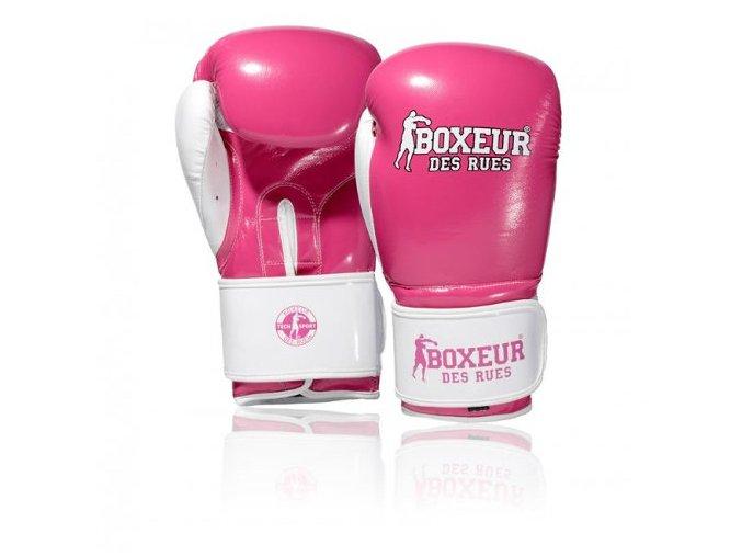 boxerske rukavice fluo fuxia boxeur des rues