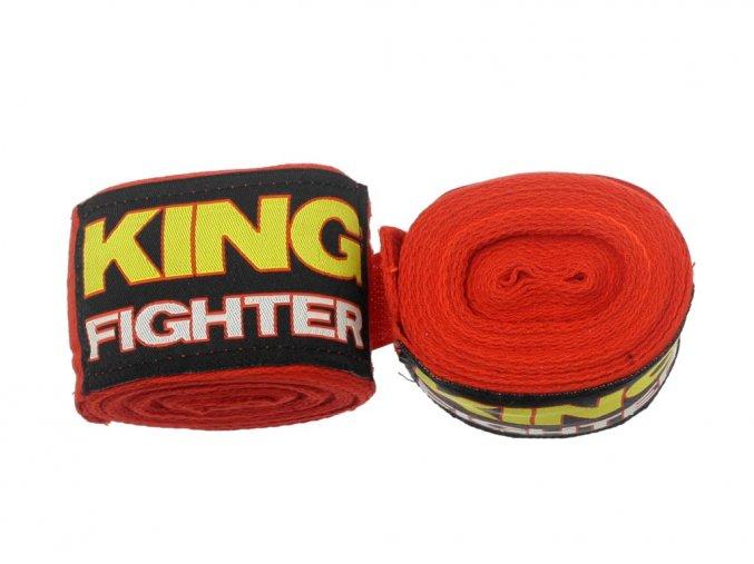 Bandáže King Fighter 4,5 m červené bavlna