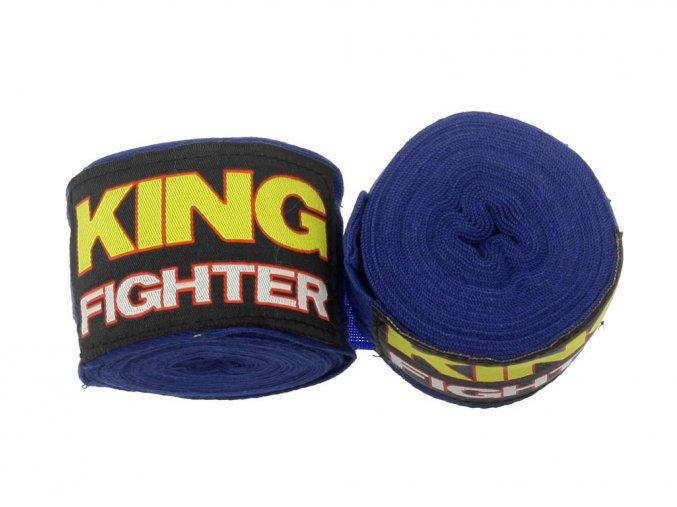 Bandáže King Fighter 4,5 m modré bavlna