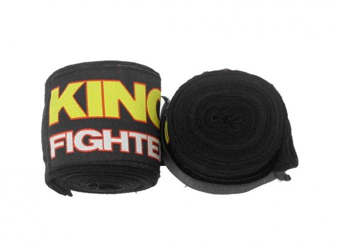 Bandáže King Fighter 4,5 m černé bavlna