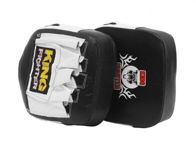 Boxerské lapy King Fighter černobílé