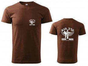 Pánské triko Krav Maga IDF hnědé