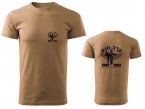 Pánské triko Krav Maga IDF pískové
