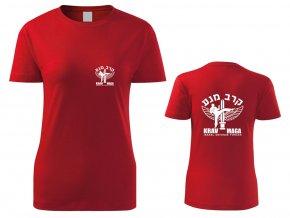 Dámské triko Krav Maga IDF červené