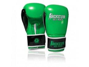boxerske rukavice fluo zelene boxeur des rues