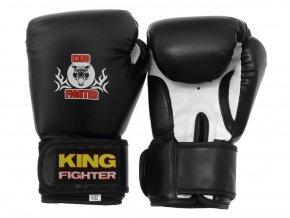 Dětské boxerské rukavice King Fighter 6oz černé