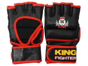 MMA rukavice King Fighter černo červené