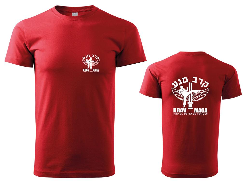 Pánské triko Krav Maga IDF červené Velikost: S