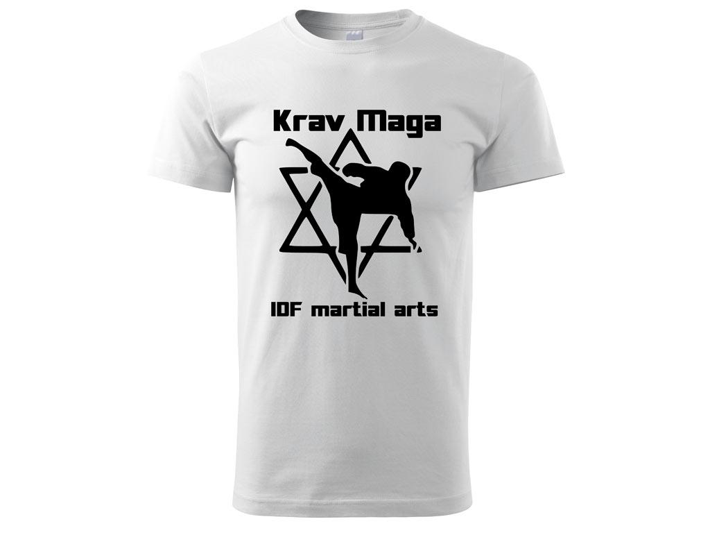 Triko Krav Maga Martial Arts bílé Velikost: S