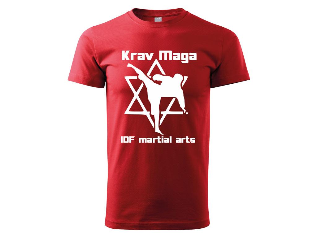 Triko Krav Maga Martial Arts červené 2 Velikost: S
