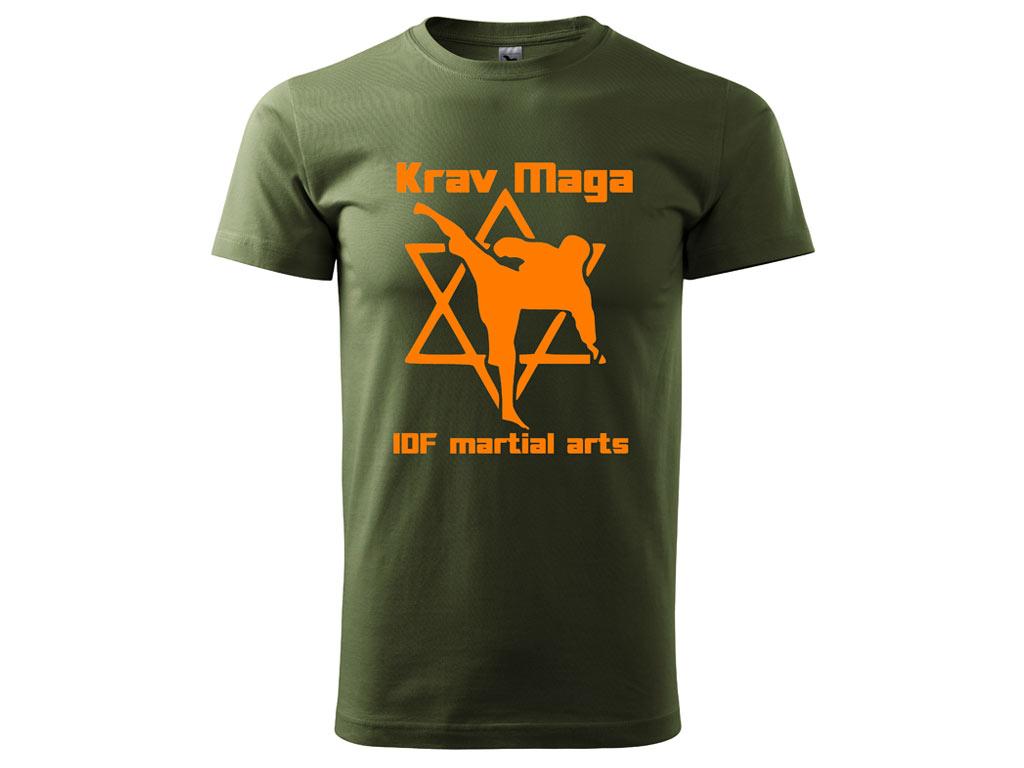Triko Krav Maga Martial Arts olivové Velikost: XL