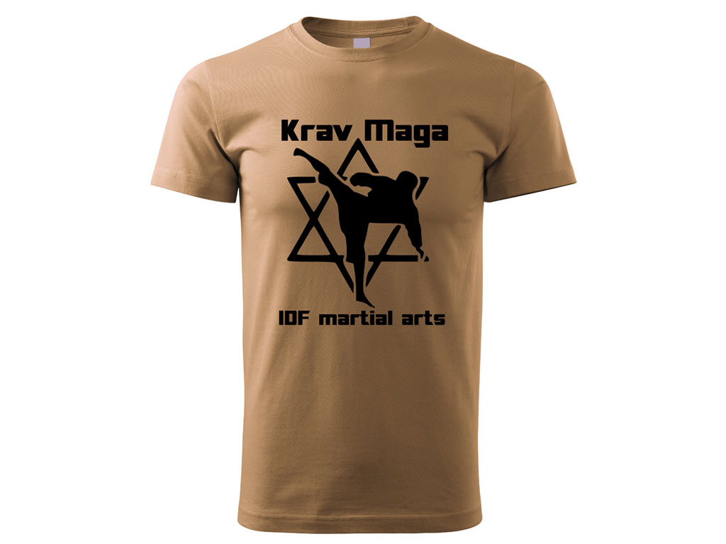 Triko Krav Maga Martial Arts pískové Velikost: M