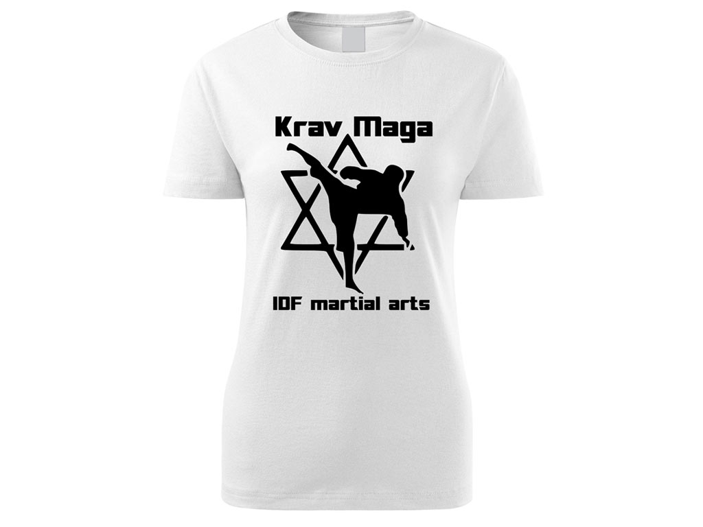 Triko Krav Maga Martial Arts bílé dámské Velikost: L