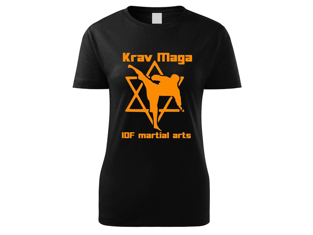 Triko Krav Maga Martial Arts černé dámské Velikost: S
