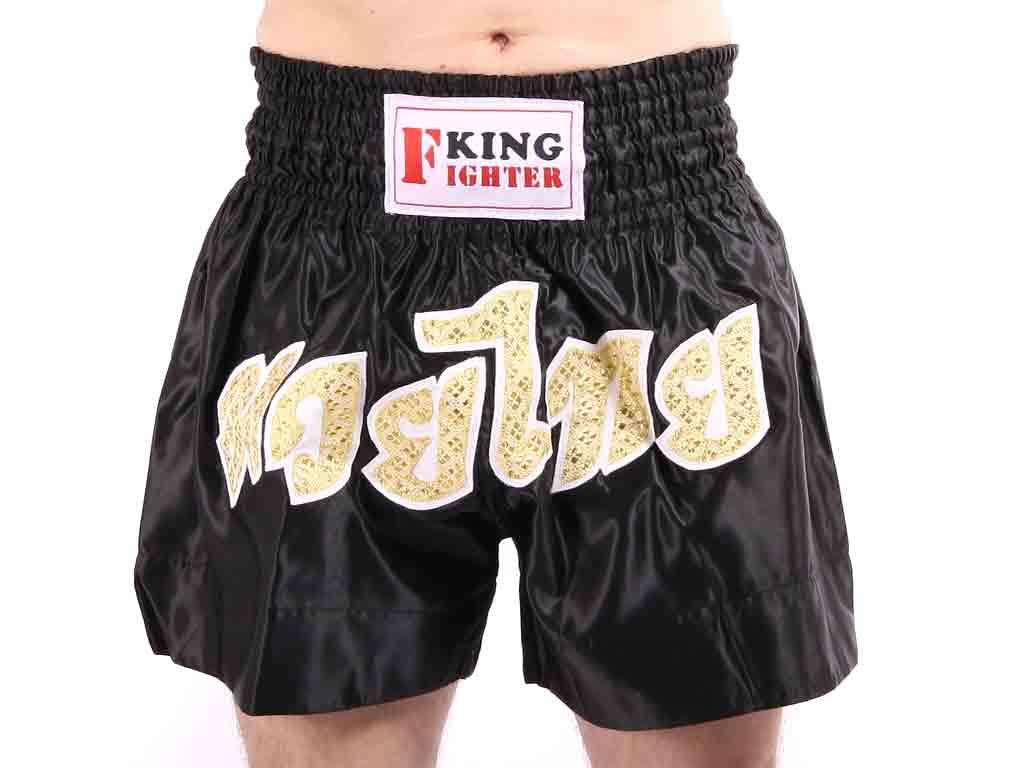 King Fighter Trenky Muay Thai Zlatý nápis Velikost: M