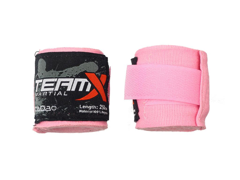 Team X Bandáže 2,5 m růžové elastické