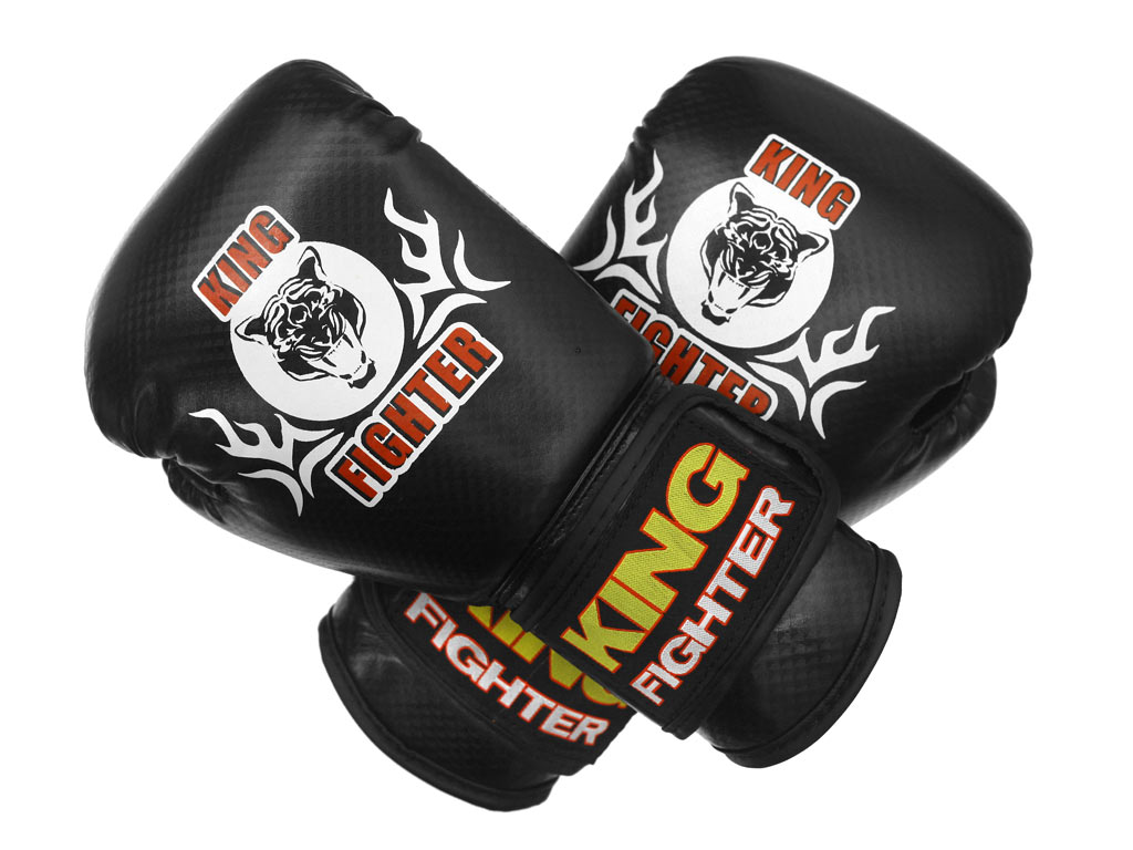 Dětské boxerské rukavice King Fighter 6oz carbon black