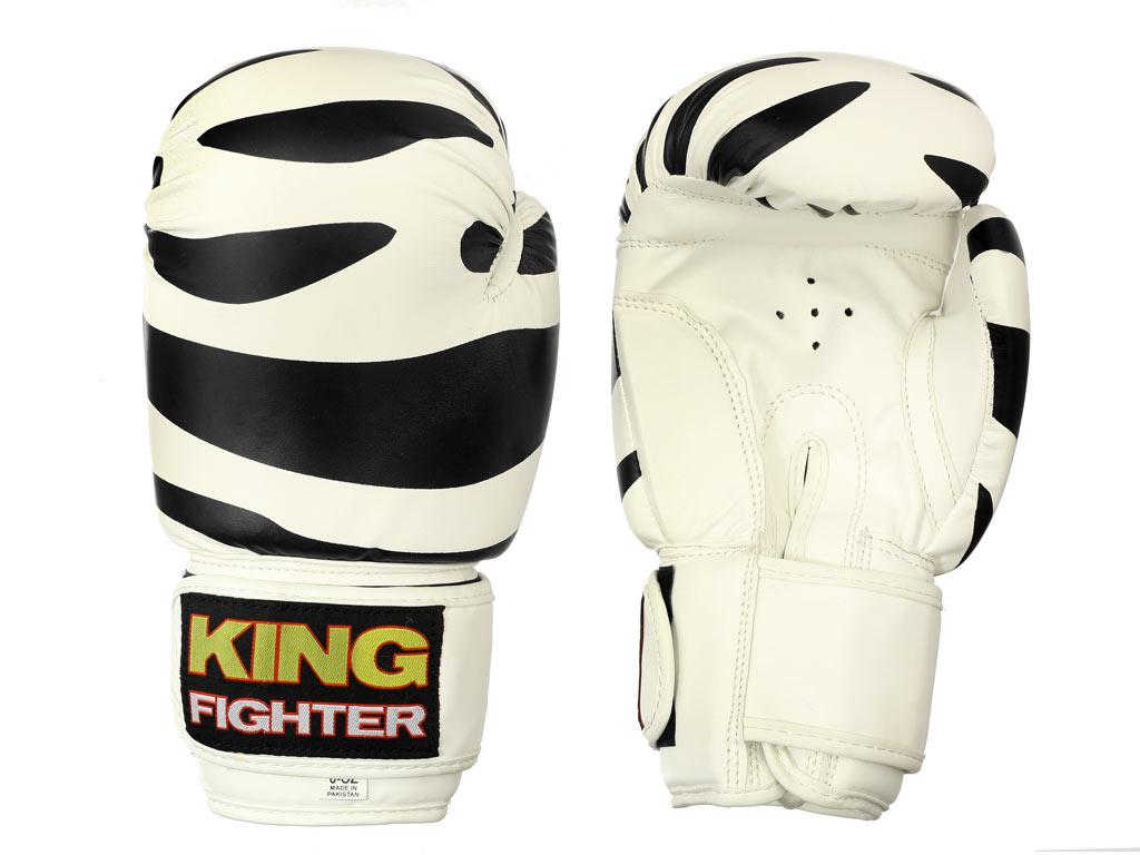 King Fighter Dětské boxerské rukavice Dalmatin černé