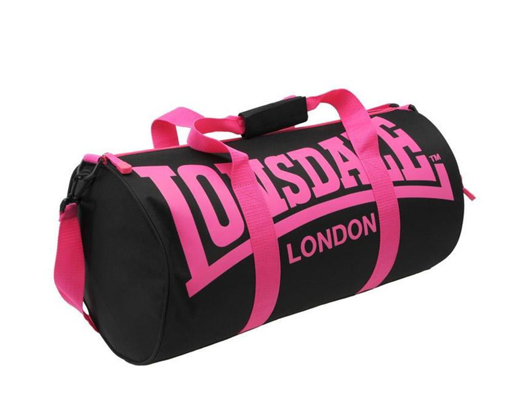 Tréninková taška Lonsdale černo/růžová