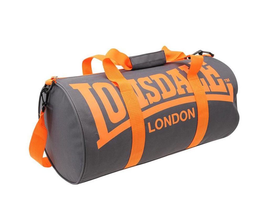 Tréninková taška Lonsdale šedo/oranžová