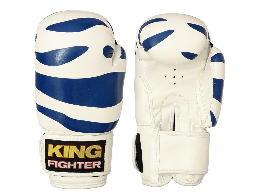 King Fighter Dětské boxerské rukavice Dalmatin modré