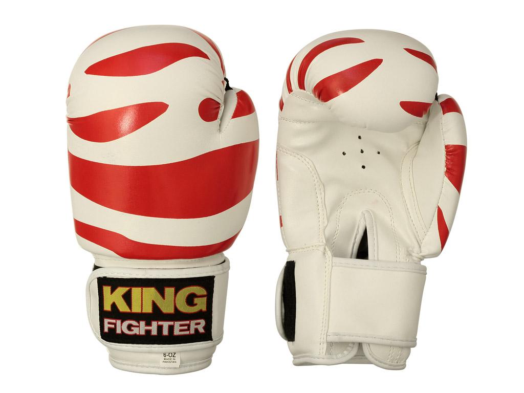 King Fighter Dětské boxerské rukavice Dalmatin červené