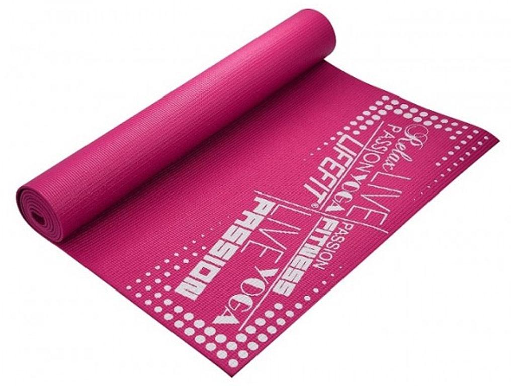 Lifefit Jóga podložka Slimfit 4mm růžová