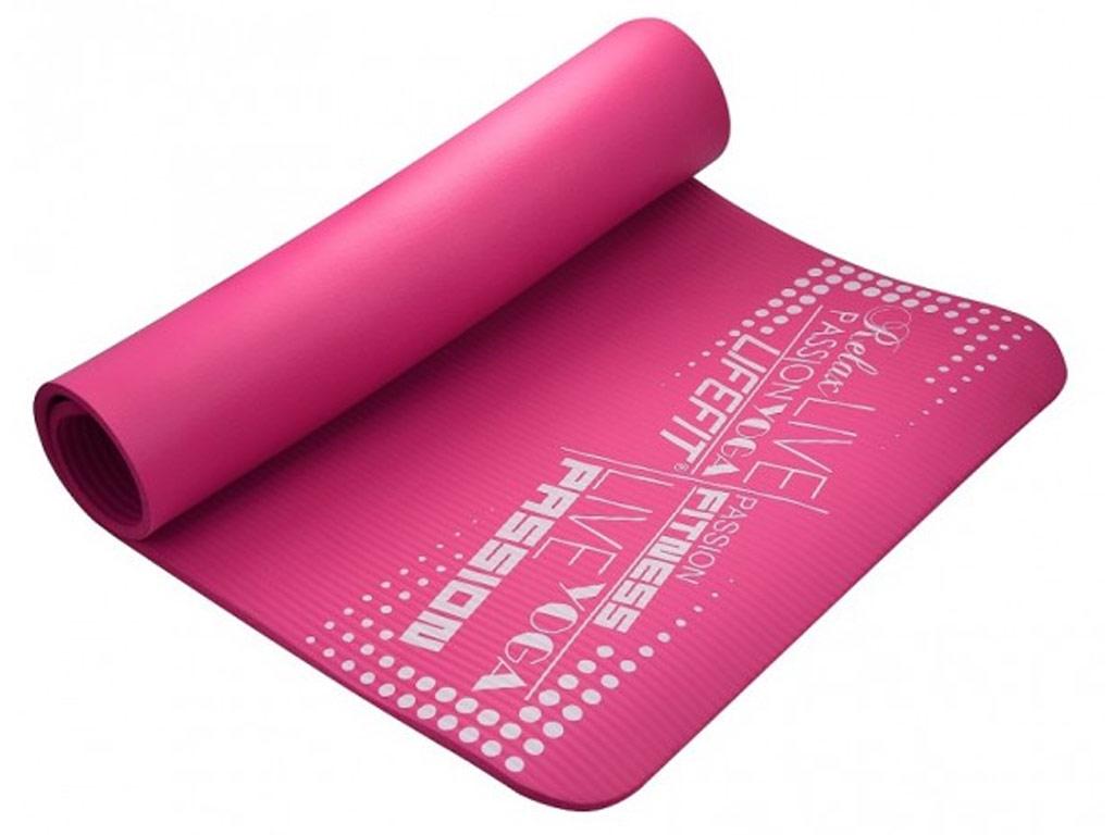 Lifefit Jóga podložka Exklusiv 10mm růžová