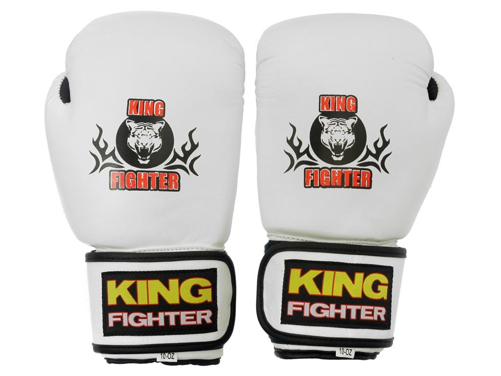 Boxerské rukavice King Fighter bílé Velikost: 10 oz