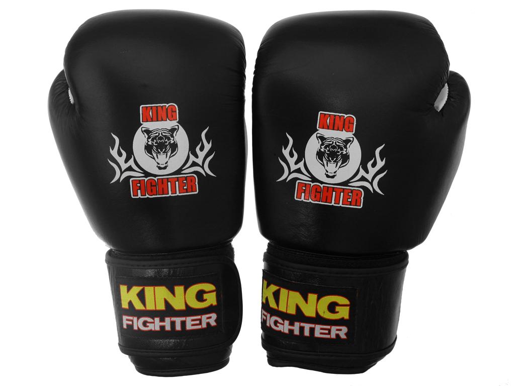 Boxerské rukavice King Fighter černé Velikost: 10 oz