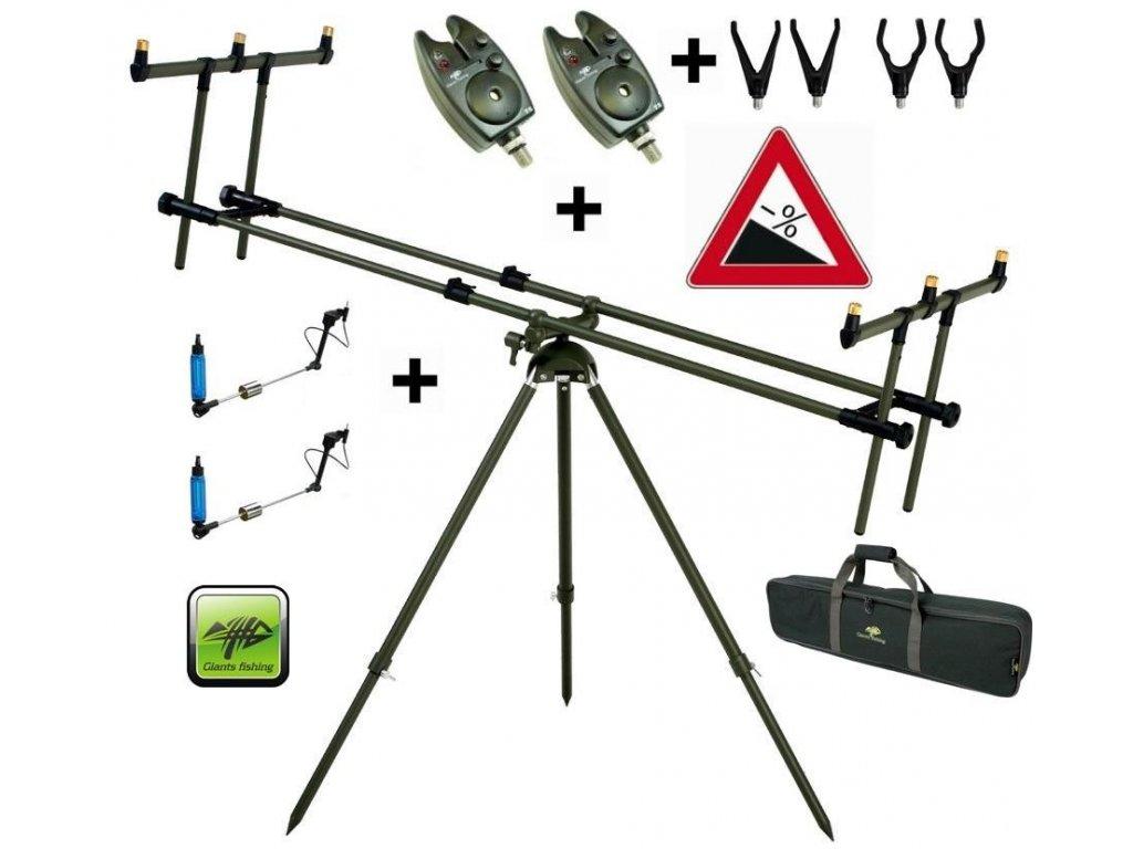 Giants Fishing Stojan Tri Pod Specialist 3 Rods +2x hlásič + 2x indikátor záběr