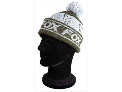 Fox Čepice Green/Silver - Lined Bobble Hat