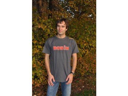 Mikbaits Pánské tričko Robin Fish - šedé