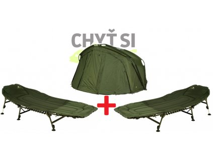 Giants Fishing Bivak QT bivvy 2 man + 2ks Specialist Bedchair 6Leg