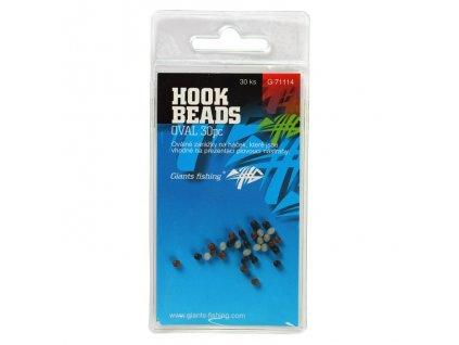 Giants Fishing Zarážka na háček Hook Beads Oval, 30ks