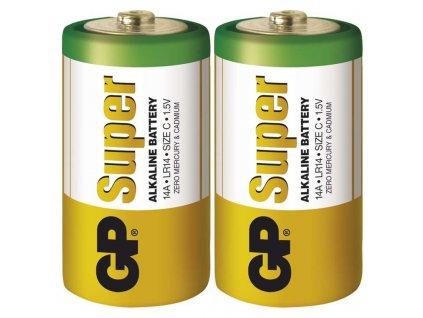 Alkalická baterie GP Super LR20 (D), 2 ks v blistru