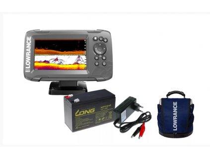 Lowrance Echolot HOOK2 5 se Sondou Tripleshot + baterie + nabíječka + taška ZDARMA