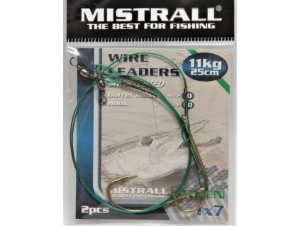 MISTRALL Lanko s jednoháčkem Green 1x7 20cm,7kg (2ks)