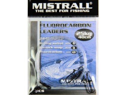 MISTRALL Fluorocarbon leaders 40cm,25kg (2ks)