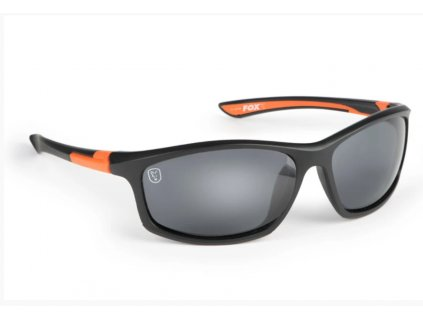 Fox Brýle Collection Black & Orange Sunglasses Grey Lens