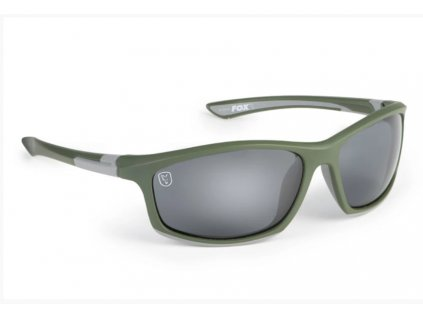 Fox Brýle Collection Green & Silver Sunglasses Grey Lens