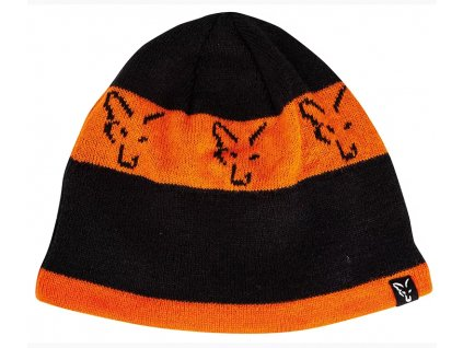 Fox Čepice Black/Orange Beanie