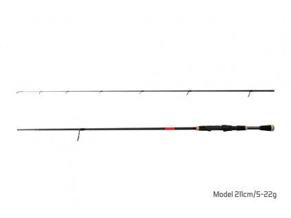 Delphin Prut ERROR / 2 díly 211cm/5-22g